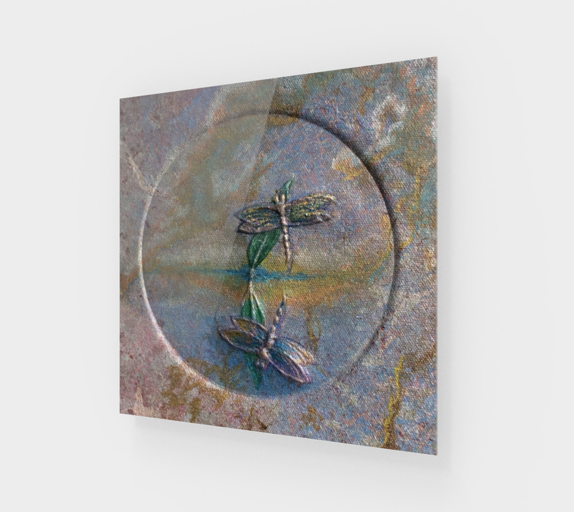 Reflecting Dragonflies Wall Art preview #1
