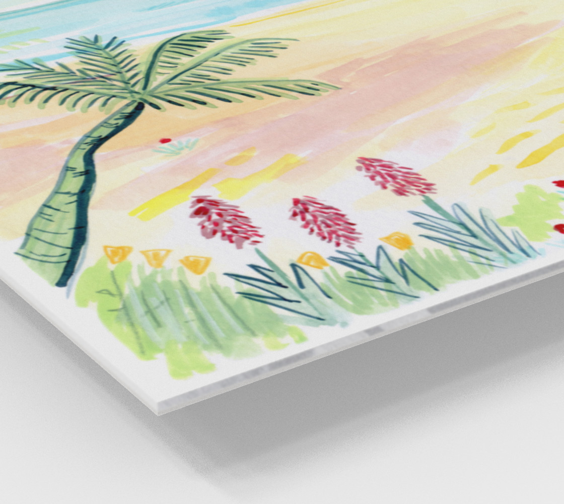 Beach Day Watercolor Fine Art Print preview #2