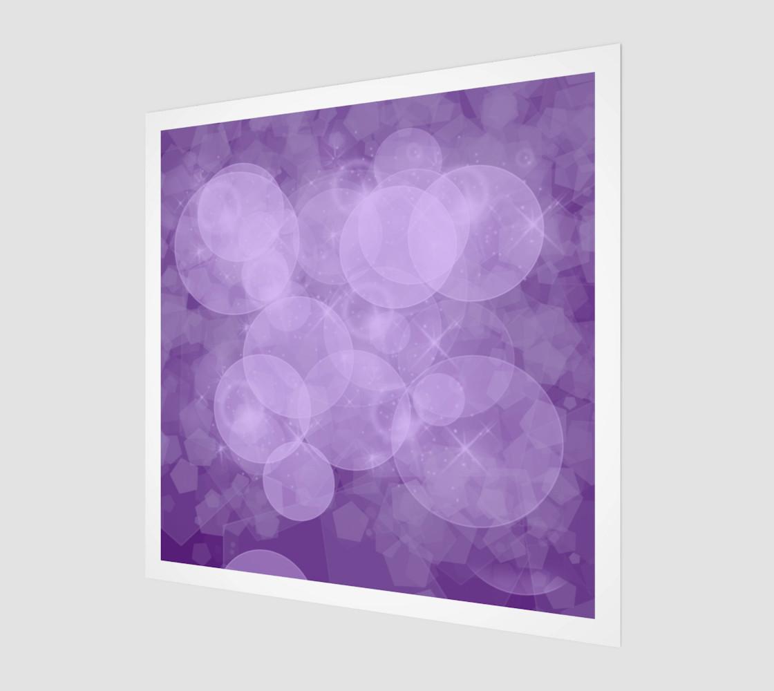 purple bubbles wall arts preview #1