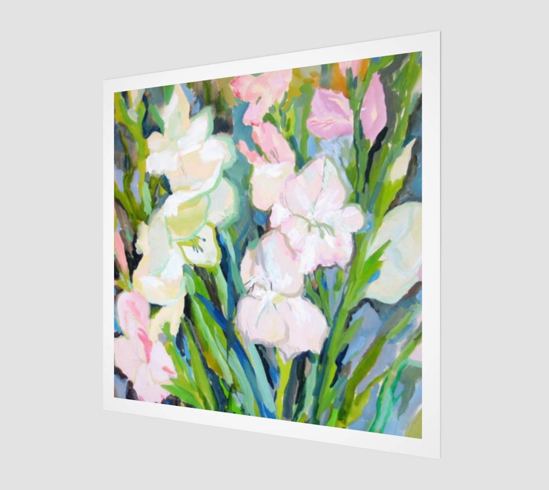 Aperçu de Gladiolus. Sword Lily. Watercolor Flowers. Bouquet. #1