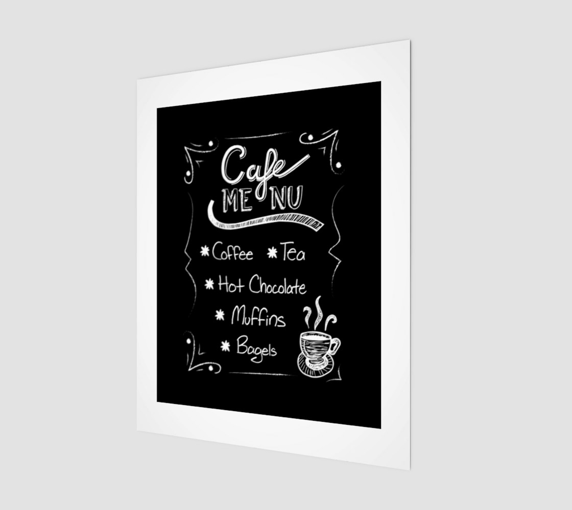 "Cafe Menu Canvas Print 11""x14"" Miniature #2"