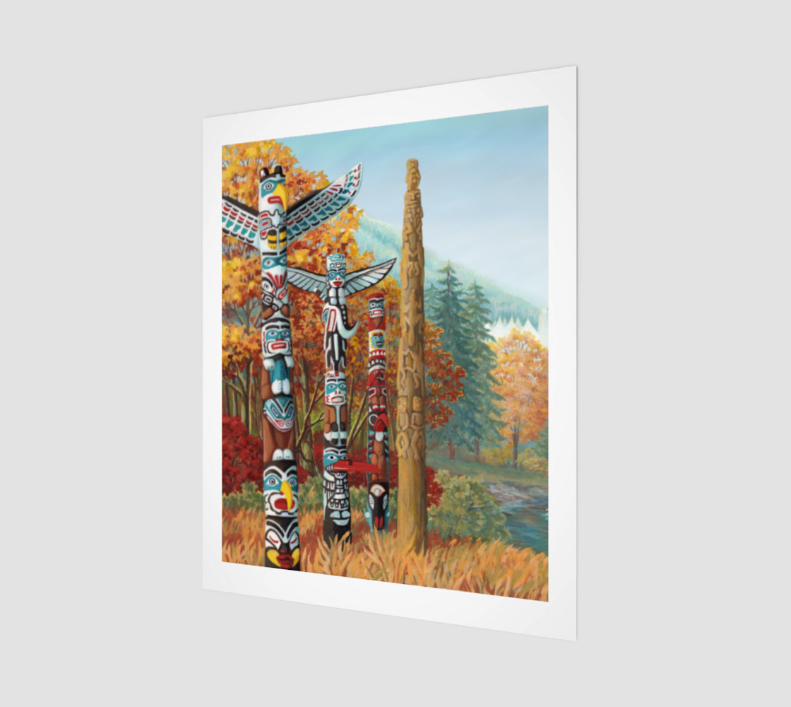Vancouver Totem Painting Prints preview #1