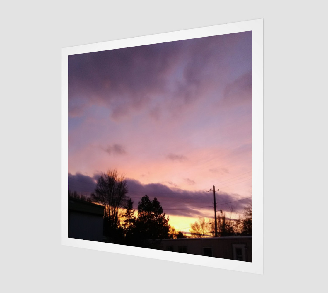 February Sunset in the Trailers Wall Art canvas preview #1