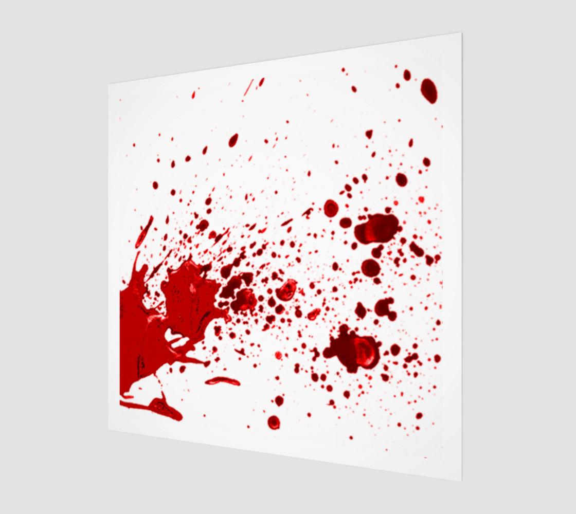 Blood Splatter One Wall Art preview #1