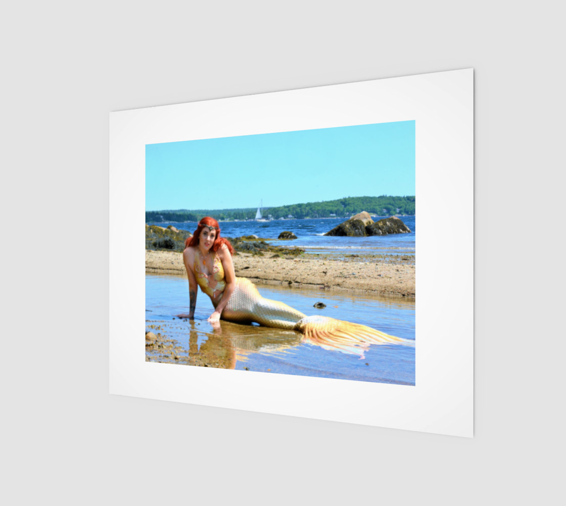 Mermaid Queen on the Beach Print  preview #1