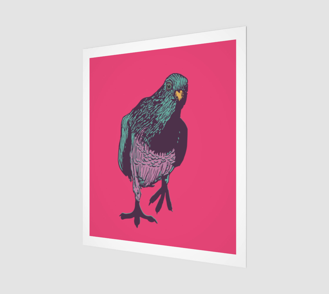 20'x24' Poster - Curious Pigeon in Bright preview #1