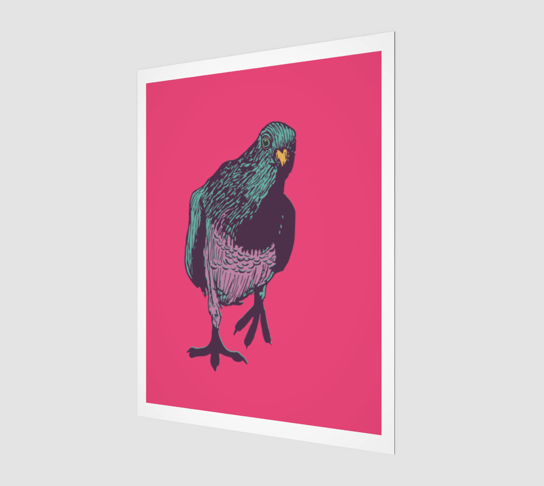 3:4 Poster - Curious Pigeon in Bright preview #1
