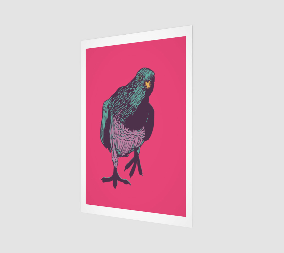 2:3 Art Print - Curious Pigeon in Bright preview #1