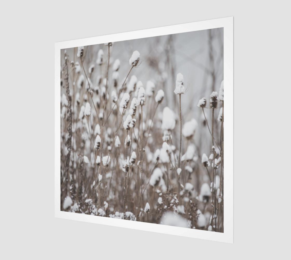 Aperçu de Winter Flowers Wall Art #1