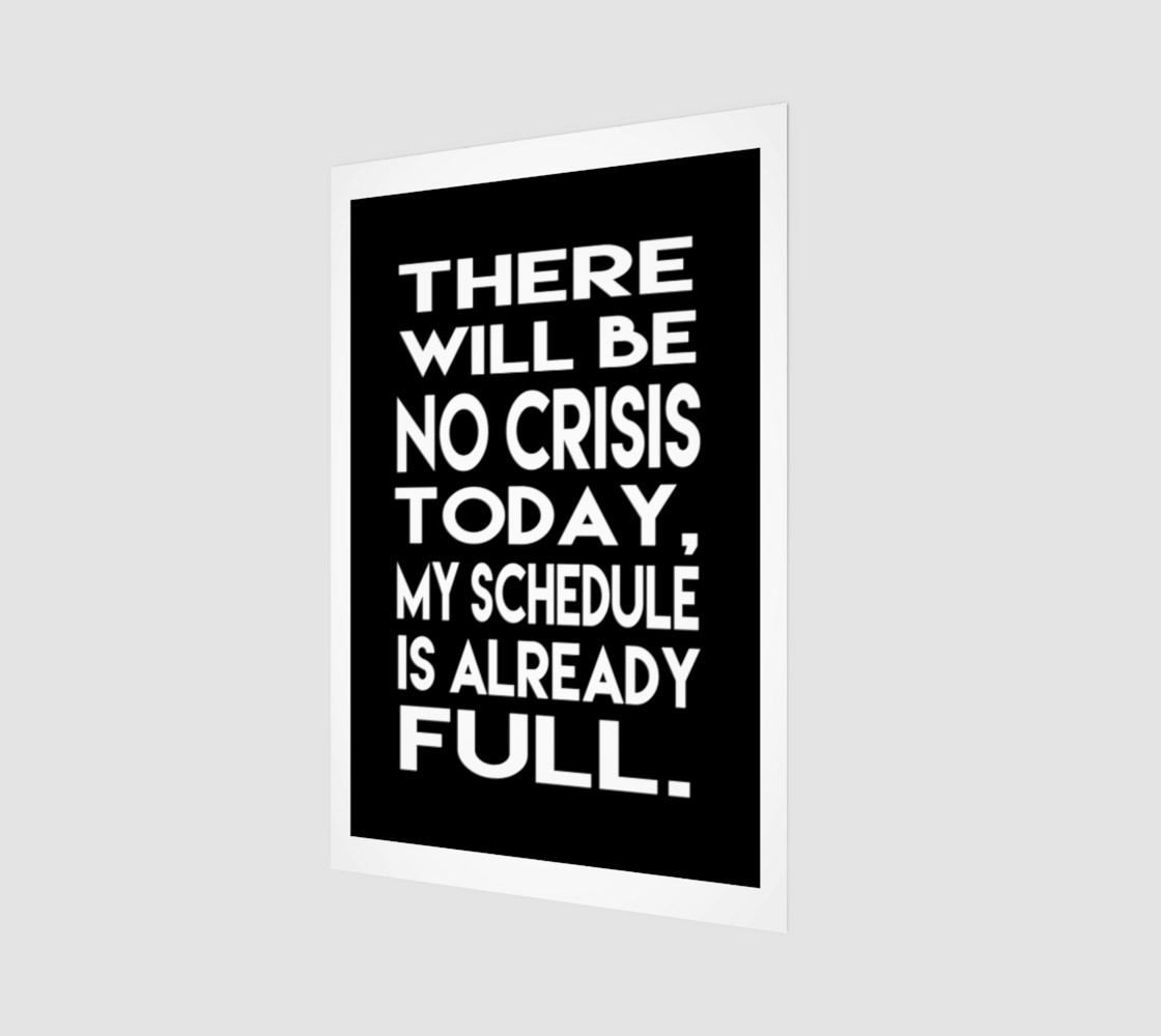 There will be no crisis today preview #1