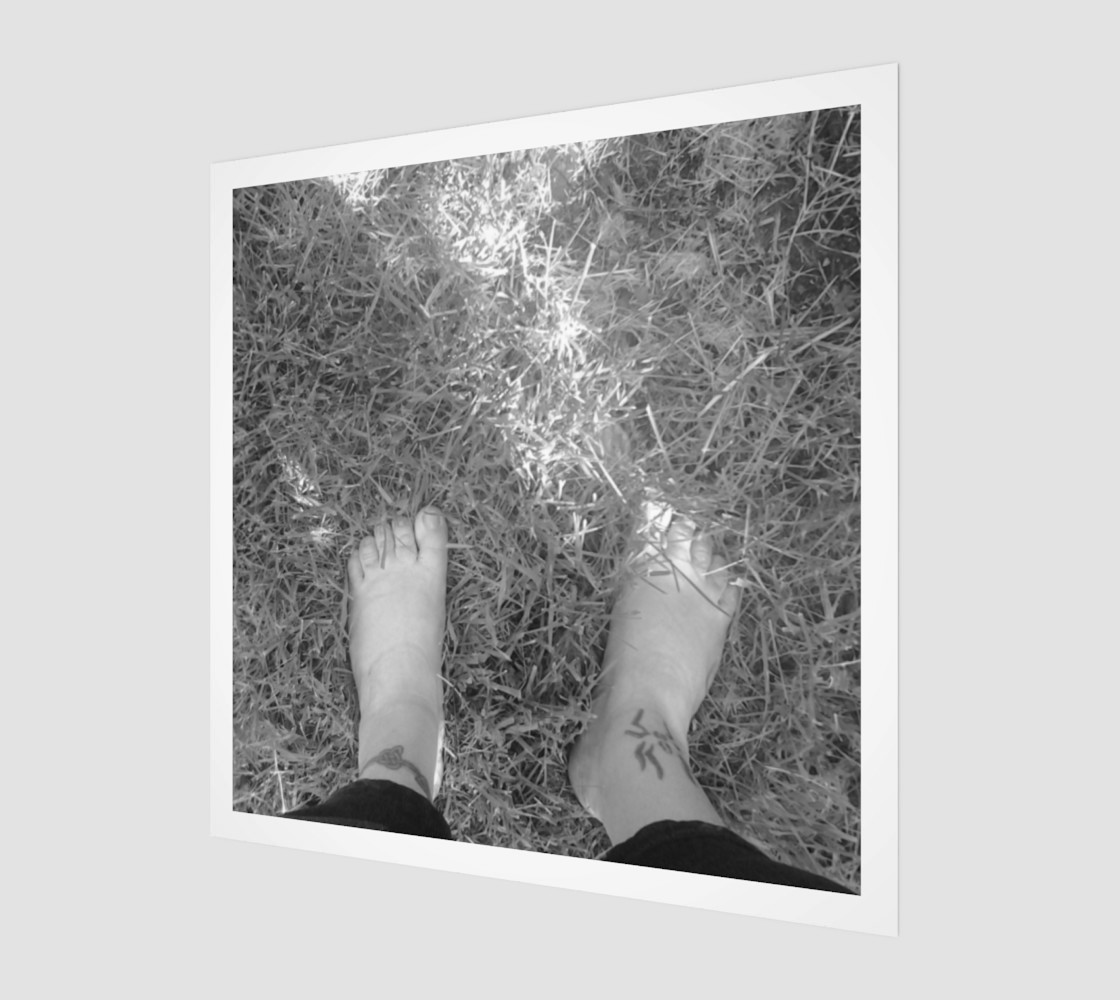 Feet Self Portrait in BW Wall Art preview #1