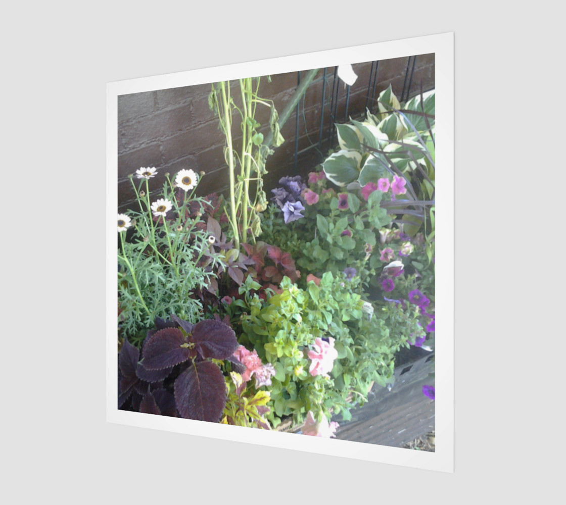 Flower Bed Wall Art preview #1
