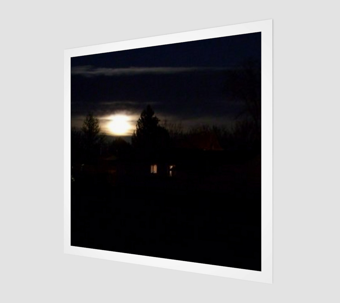 Full Moon Rise Wall Art preview #1