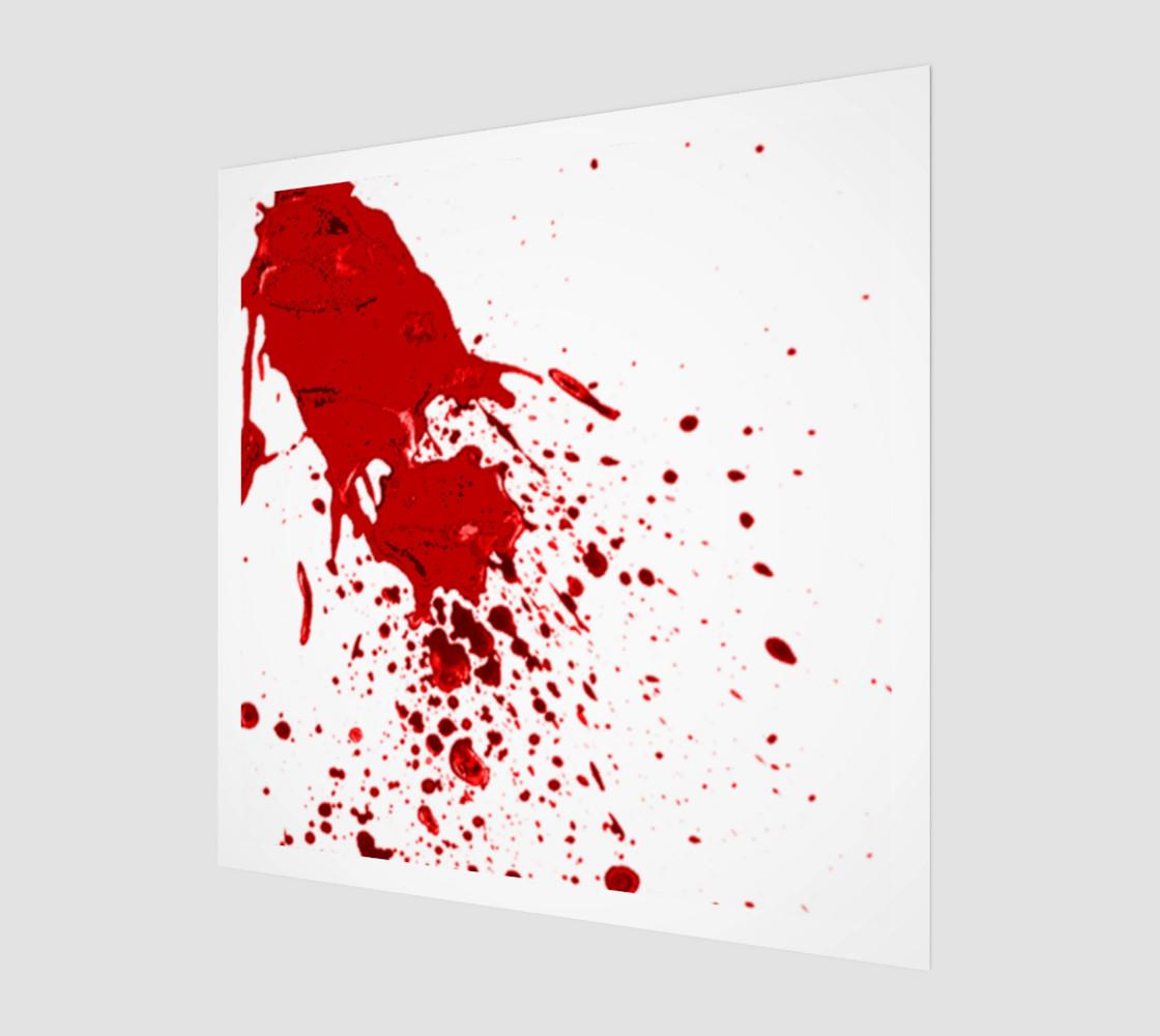 Blood Splatter 1 wall art preview #1