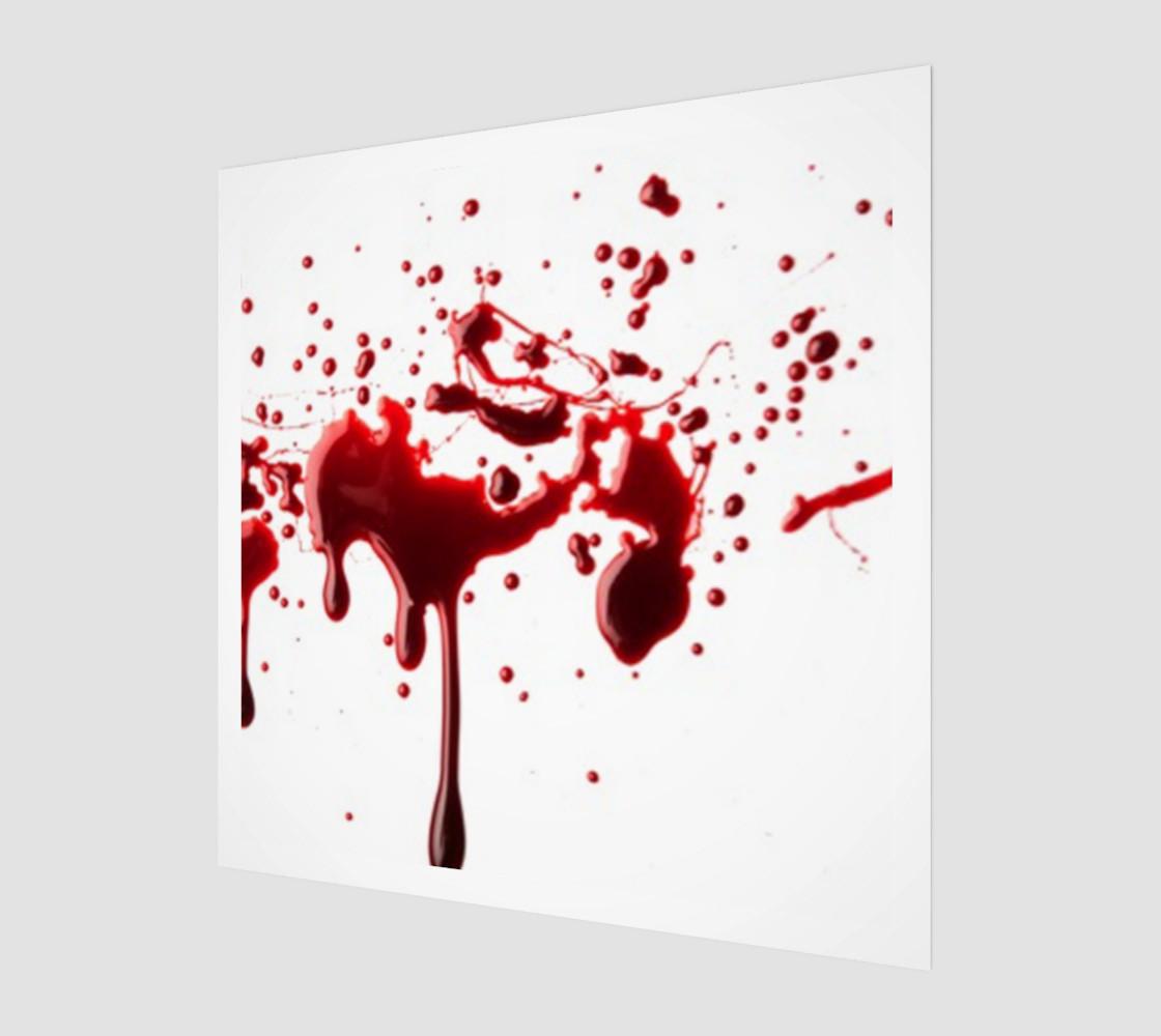 Blood Splatter three wall art preview #1