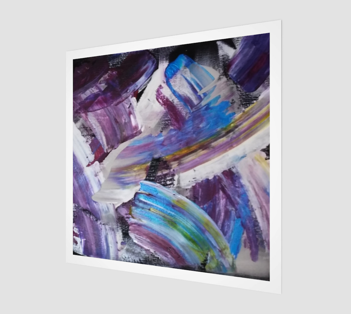 Energy Shift Abstract Painting by Janet Gervers preview #1