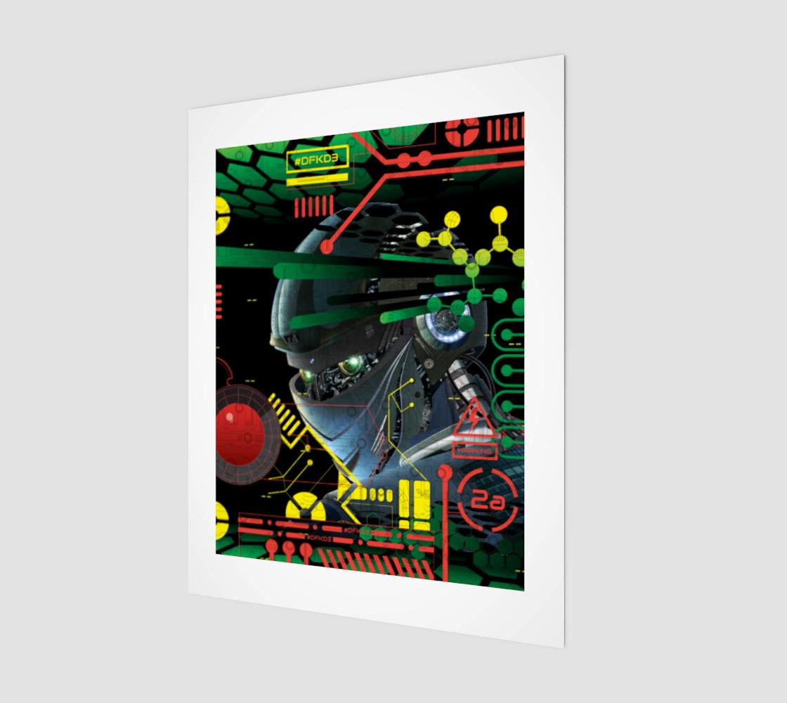Futuristic Sci-Fi Techno Robot Wall Art.__(' preview')