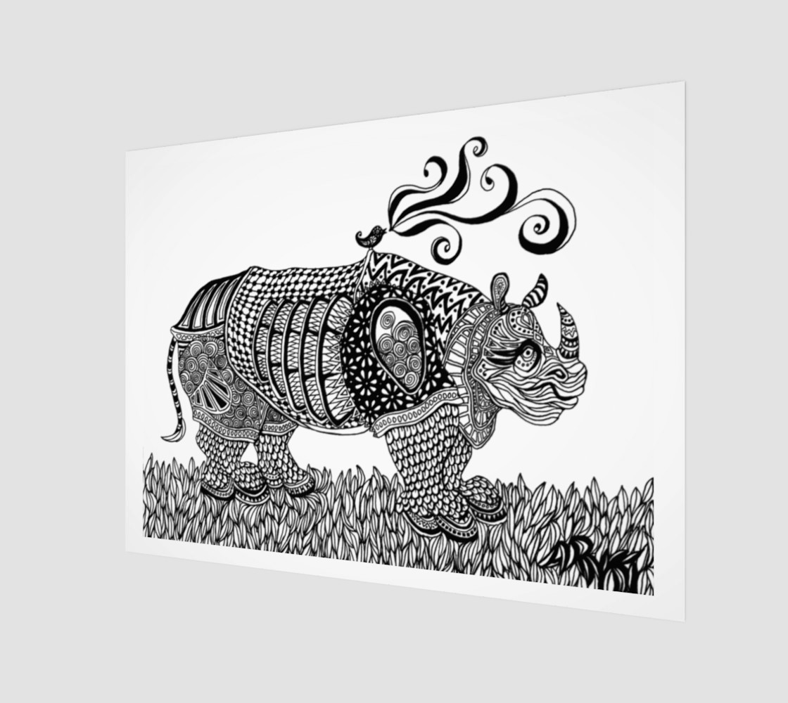 Aperçu de Deco Rhino print #1