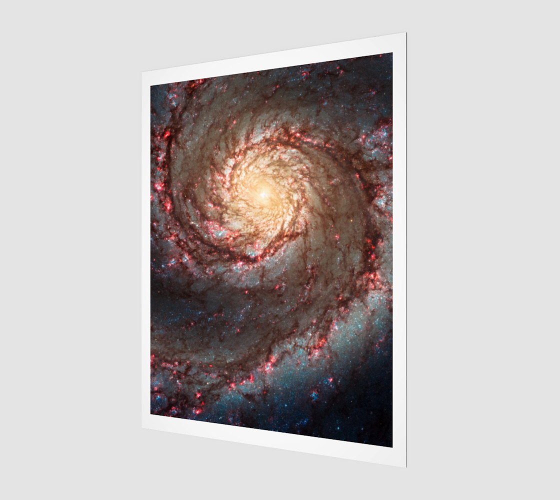Whirlpool Galaxy 3D preview