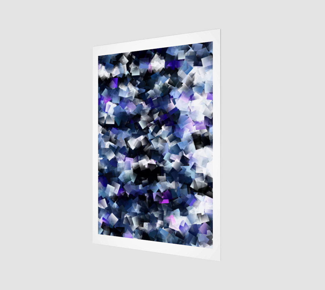 Moody Blue And Purple Cubes  preview #1