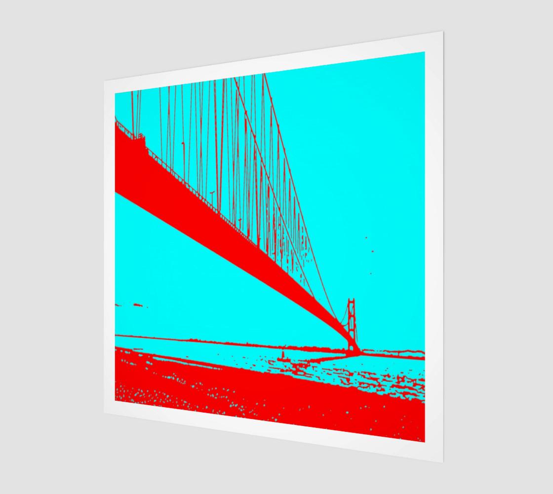 Aperçu de Lanndscape red blue turquoise #1
