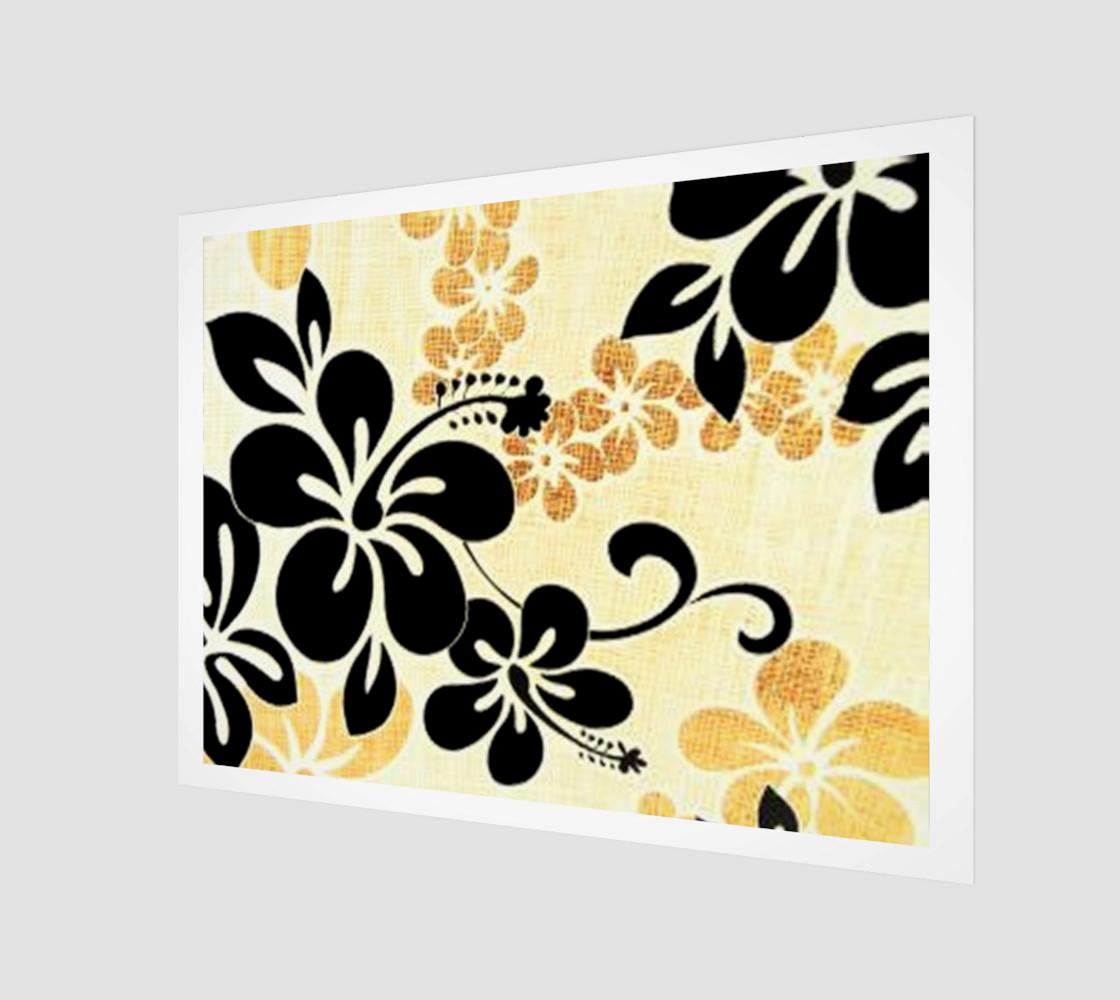 black on khaki hibiscus wrap preview #1