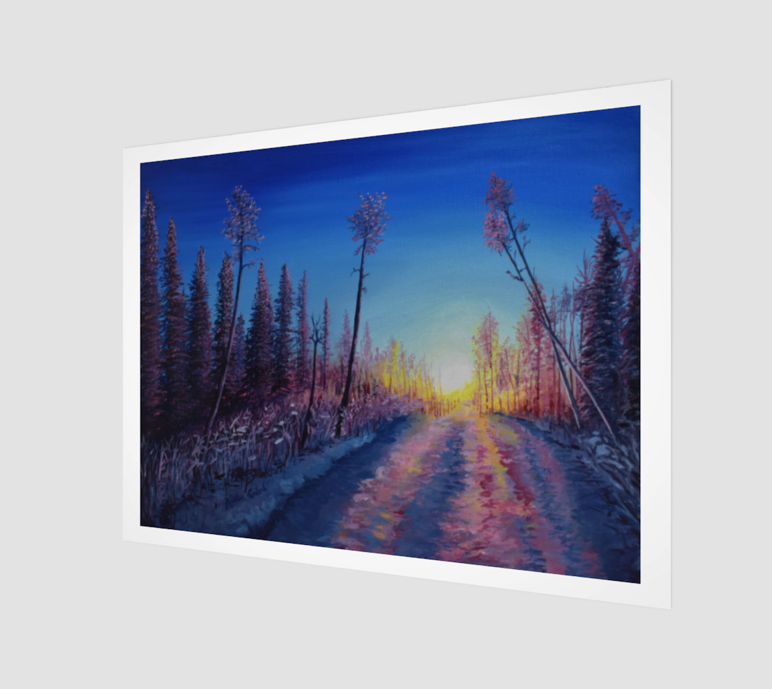 Crimson Sunset Snow Trail Miniature #2