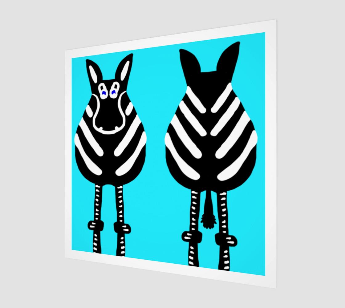 "Zebra Both Ends Wall Art 12"" x 12"" preview #1"