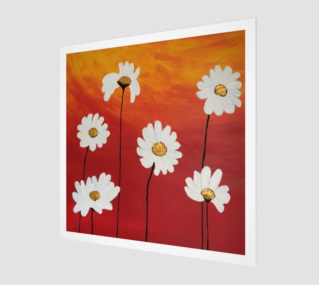 Daisy Sunset Art Print preview #1