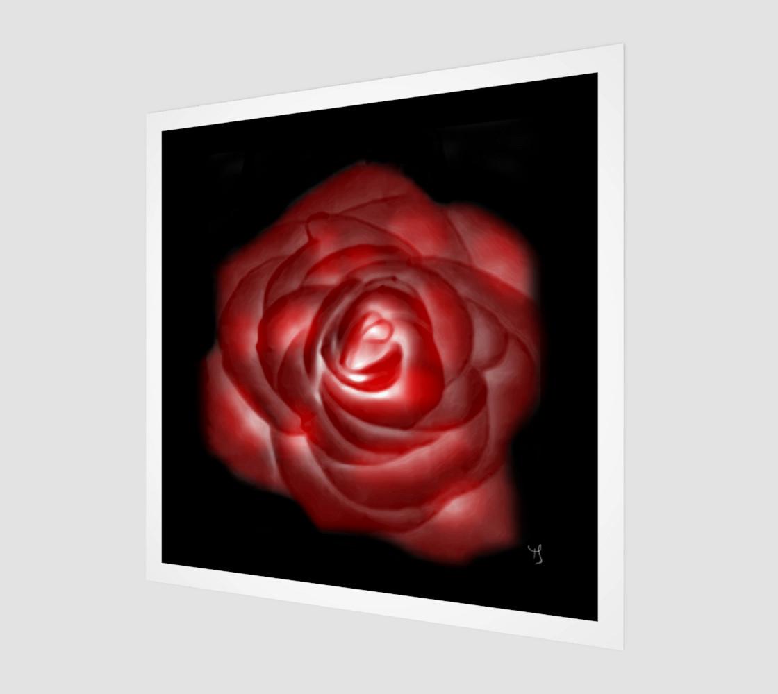 Aperçu de Glowing Rose Fine Art print by Tabz Jones #1