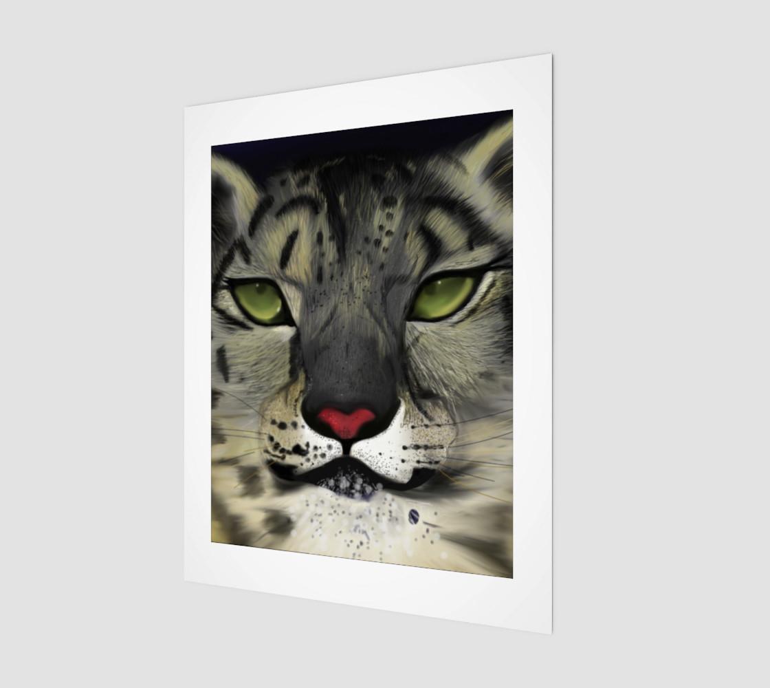 "Snow Leopard Wall Art 11"" x 14"" preview #1"