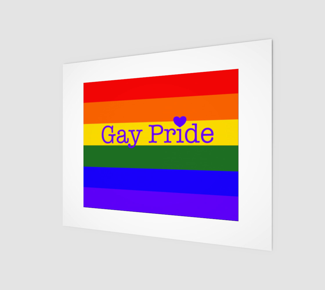 """Gay Pride Love Wall Art 10"""" x 8"""" preview #1"""