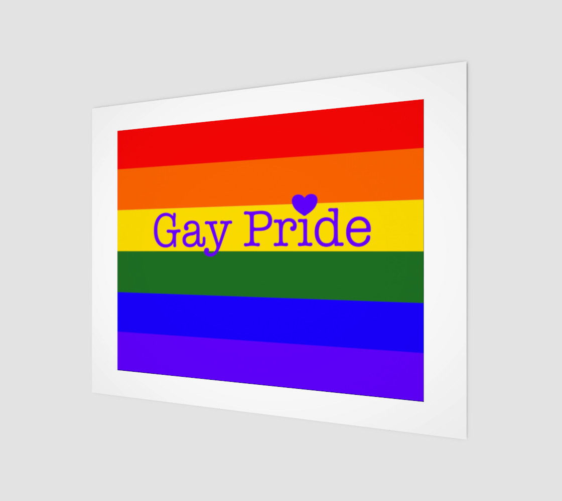"""Gay Pride Love Wall Art 14' x 11"""" preview #1"""