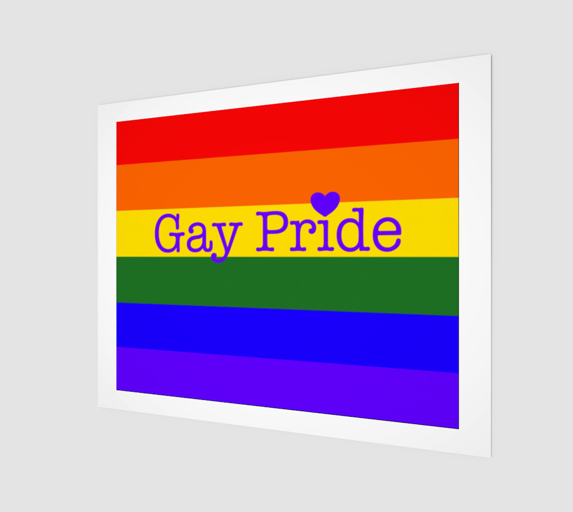 """Gay Pride Love Wall Art 20"""" x 16"""" preview #1"""