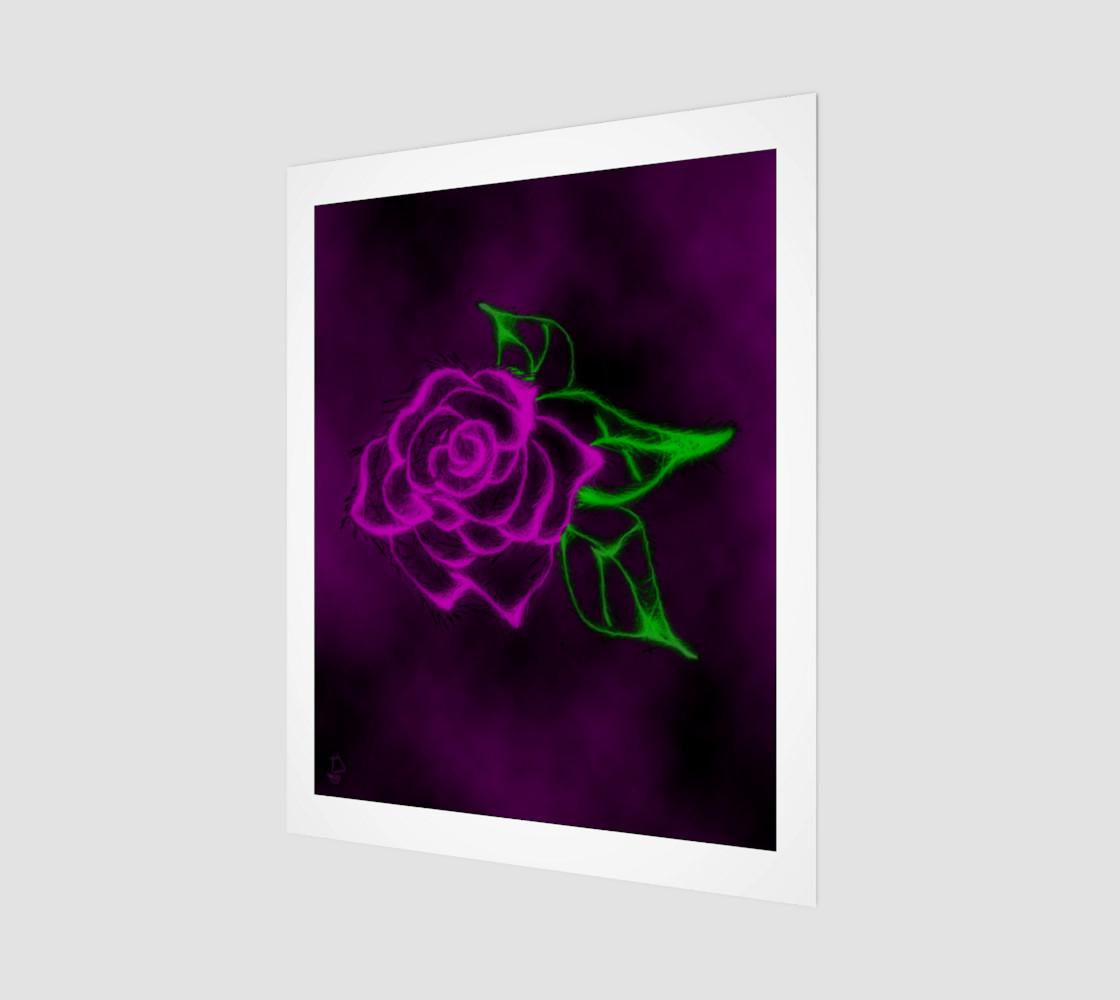 Fractal Rose fantasy art print by Tabz Jones preview #1
