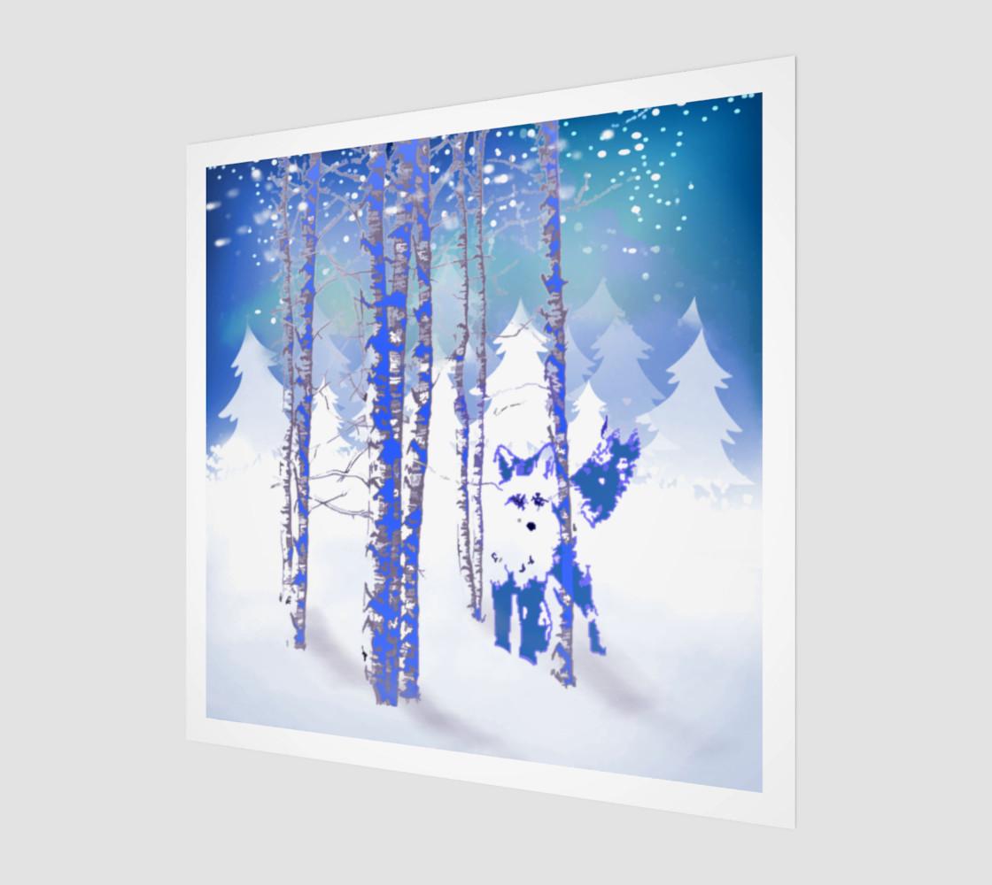 Aperçu de Blue Winter Snow Forest Fox Animal Foxes  #1