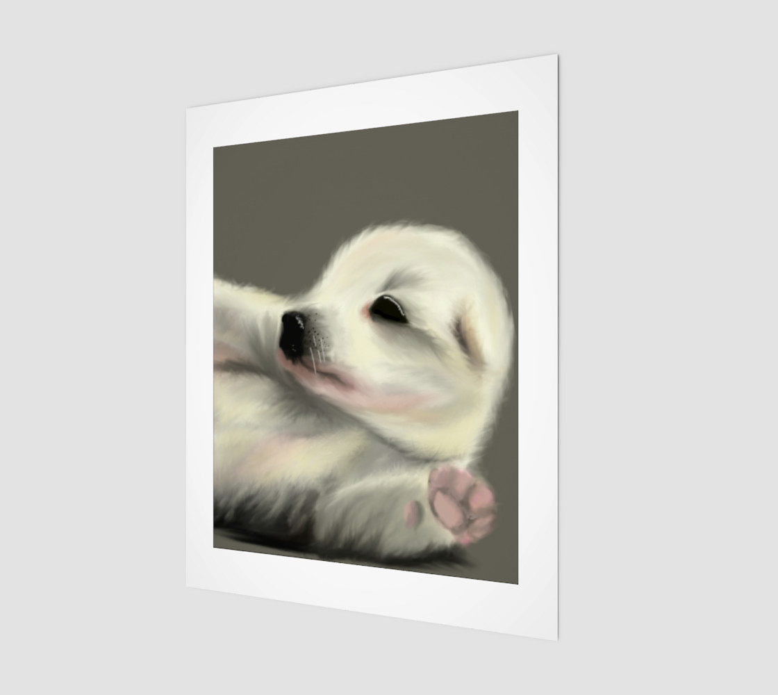 "Adorable Puppy Wall Art 11"" x 14"" 3D preview"