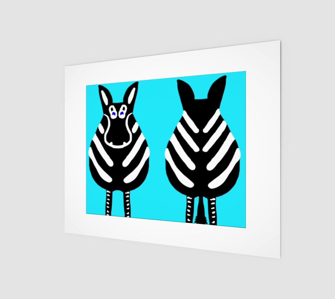"Zebra Both Ends Wall Art 10"" x 8"" preview #1"