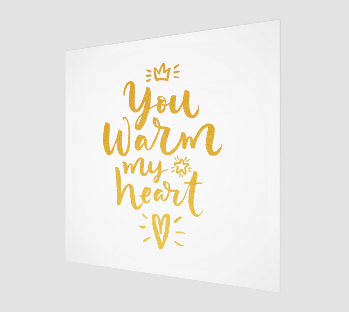 You Warm My Heart Gold Typography preview #1