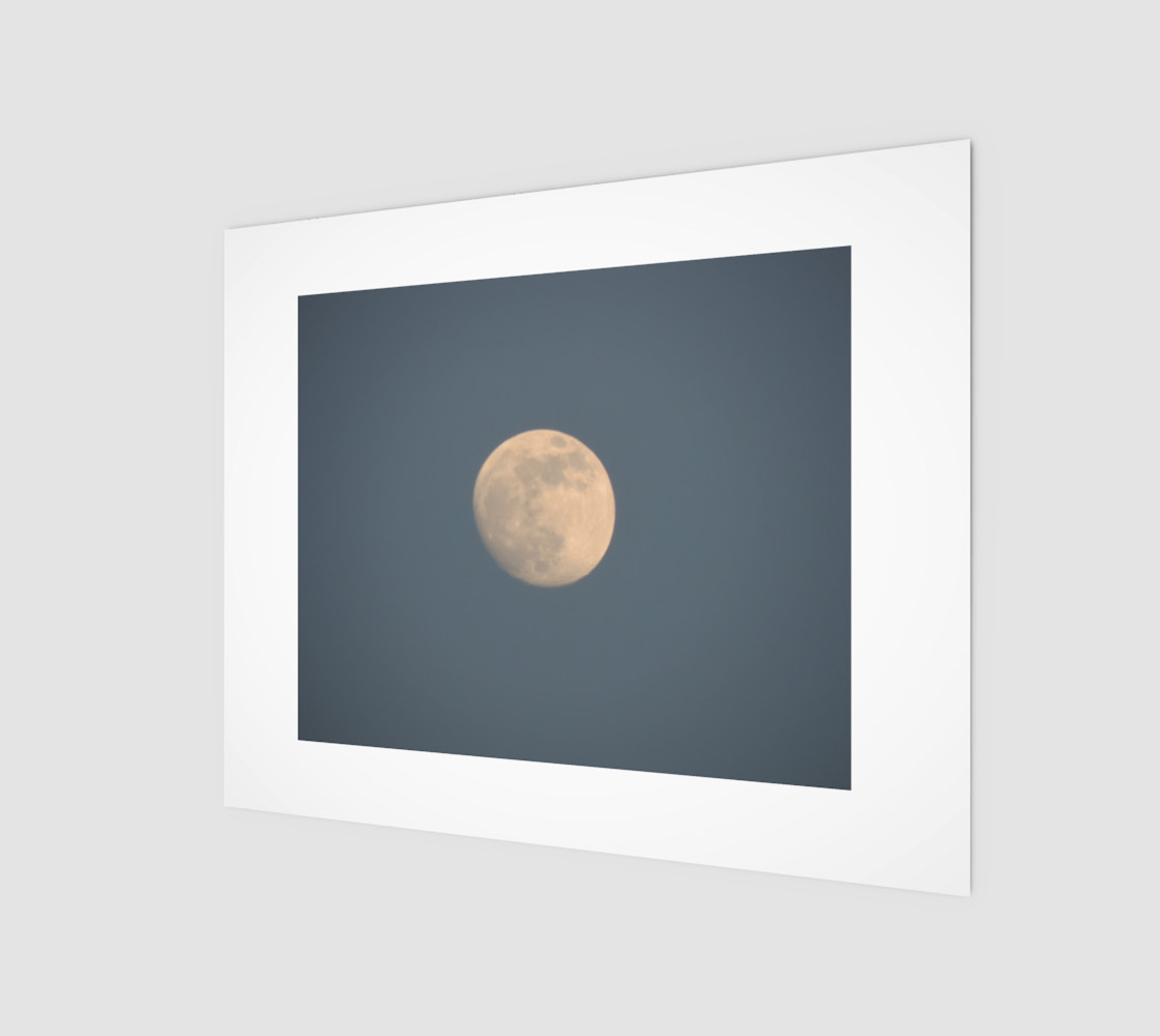 Moon and blue sky preview #1