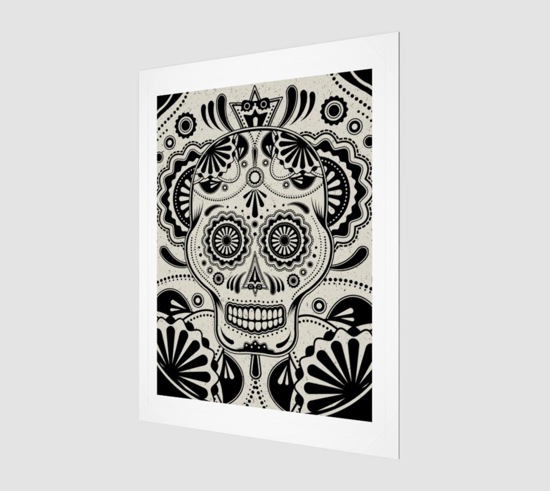 Sugar Skull Aztec Art preview #1