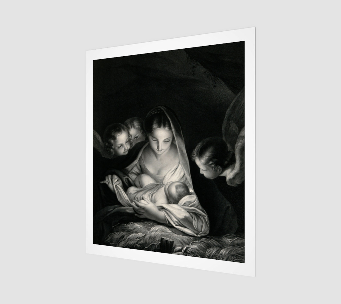 The Nativity, Birth of Jesus, Mother Mary and Angels Credit Wellcome Library London preview #1