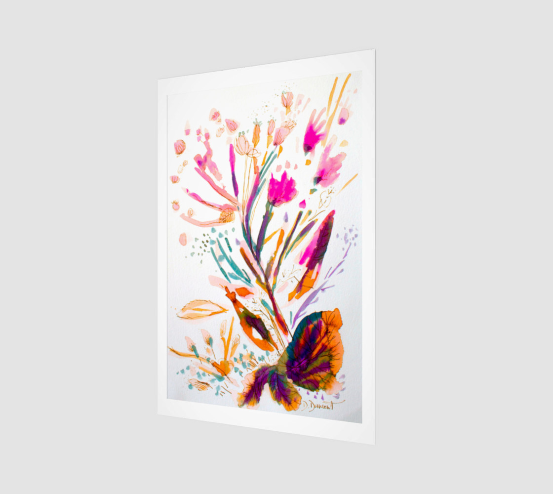 wall_art_Pink Sea Weeds preview #1