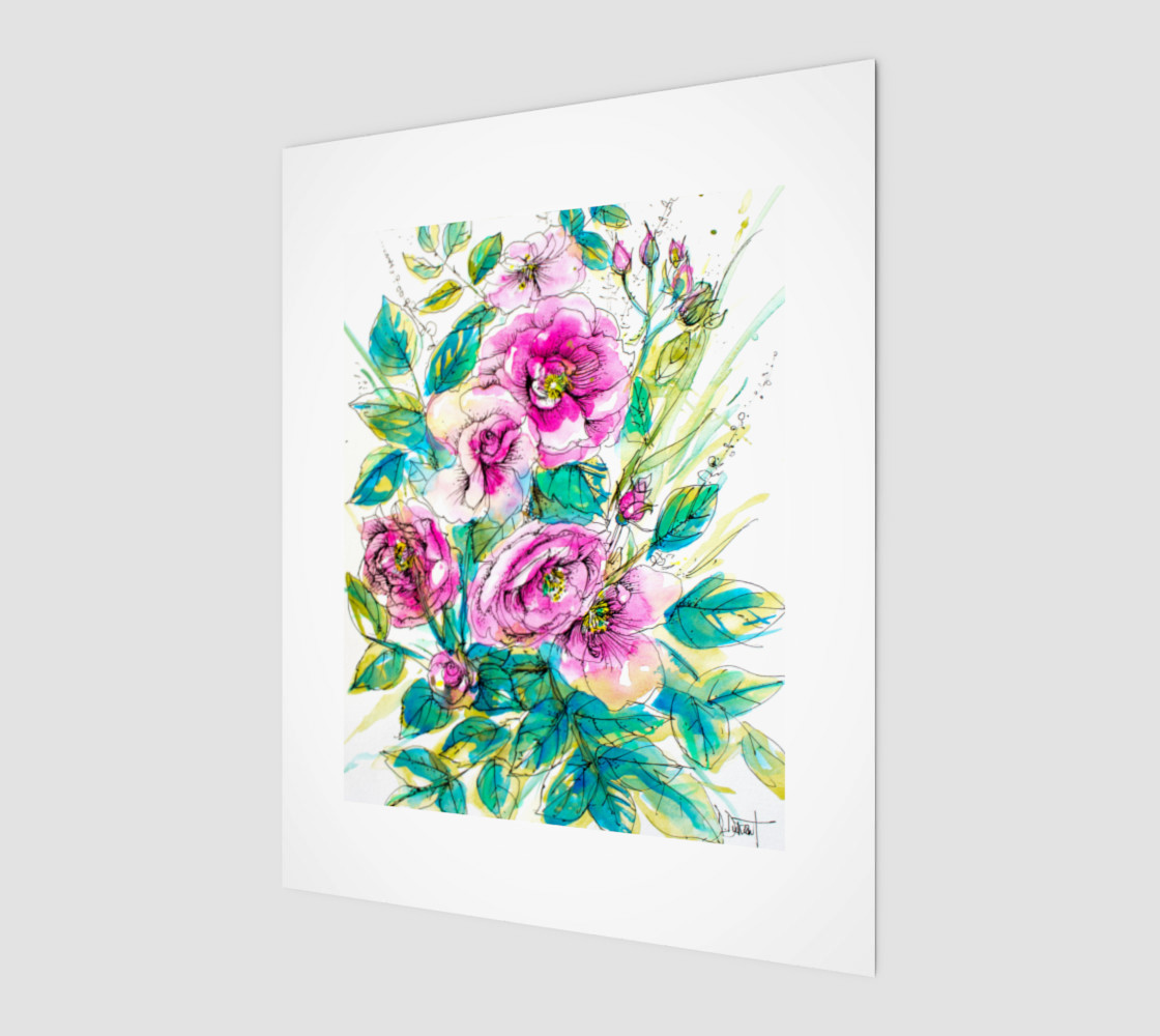 wall-art_Wild Roses for Me preview #1