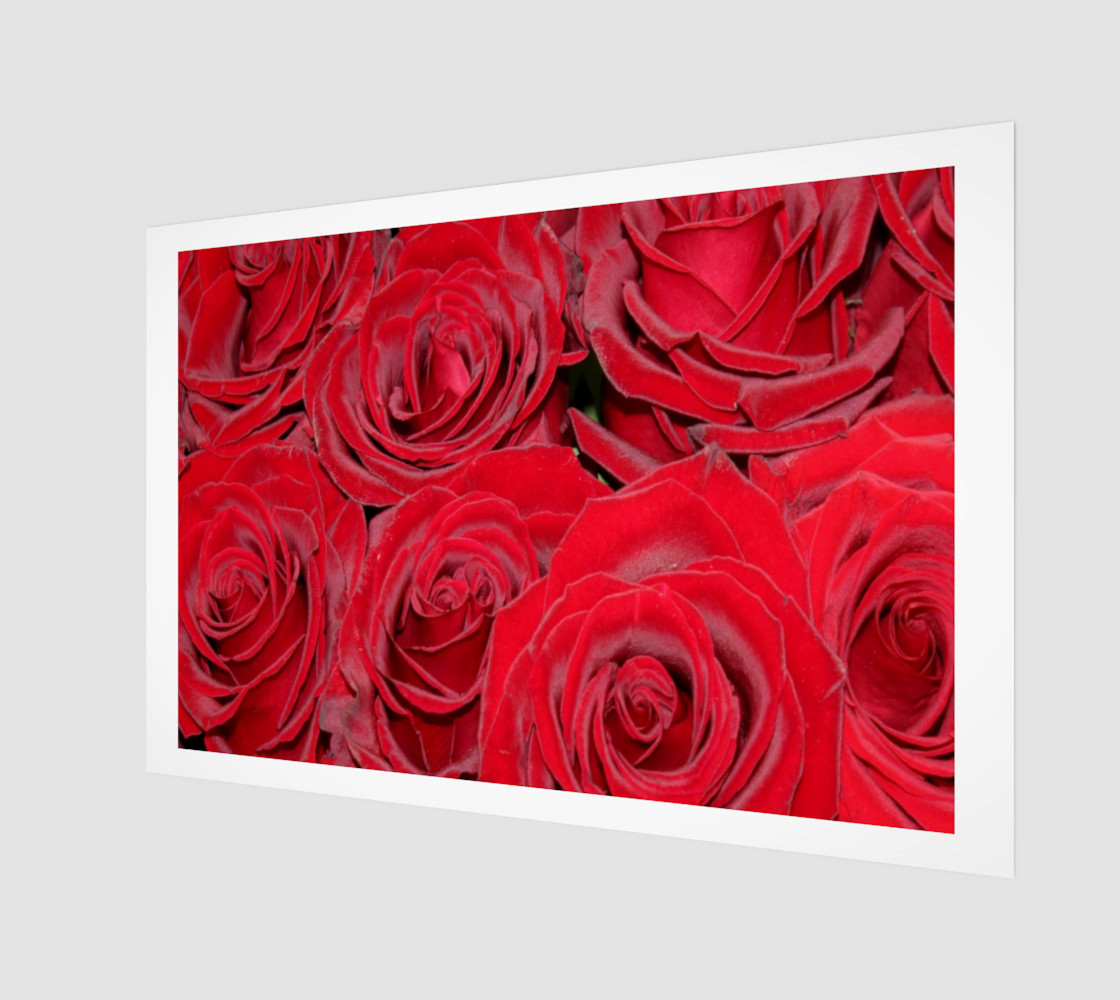 Romantic Red Roses Floral Design preview #1