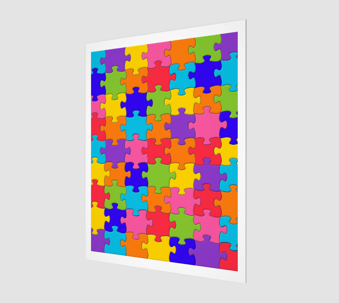 Funny Colorful Jigsaw Puzzle Pieces preview #1