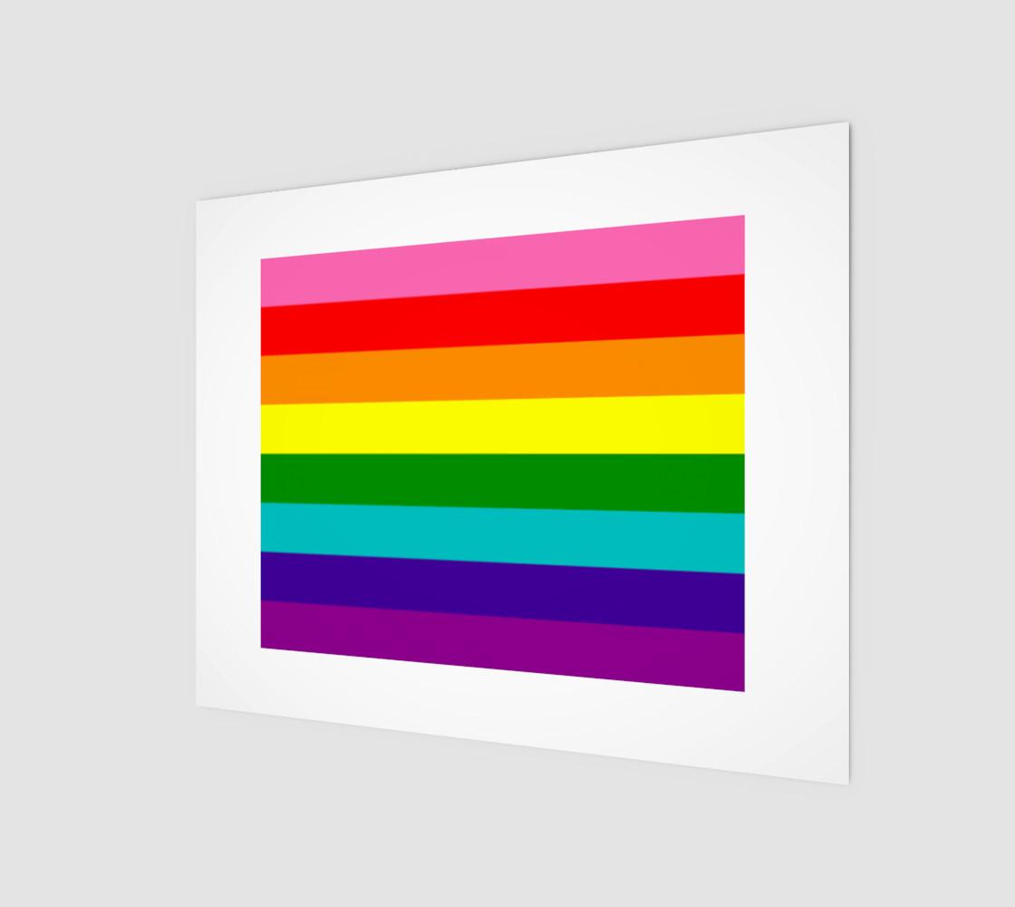 Rainbow Flag Original 8 Stripes Pattern LGBT Pride preview #1