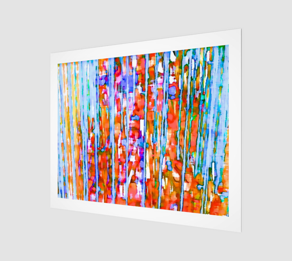 water color in the rain art print large preview #1