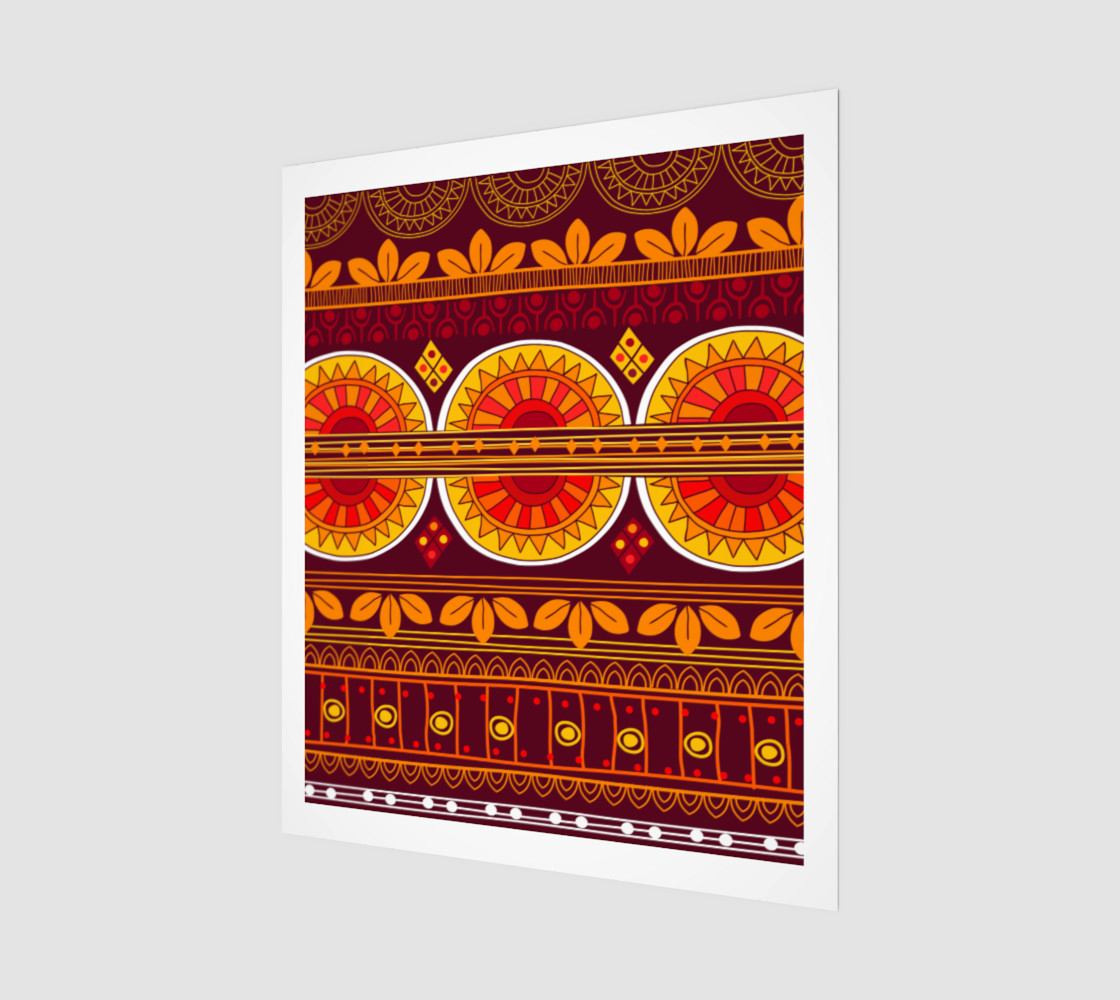 Aperçu de Red Ethno Pattern  #1