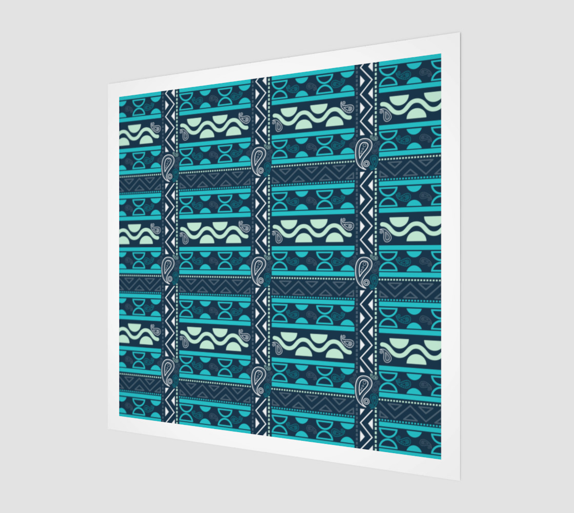 blue ethnic tribal borders preview #1